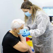 Praėjusią parą nuo koronaviruso paskiepyta per 5,6 tūkst. žmonių