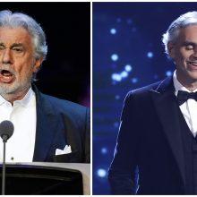 A. Bocellis stojo ginti seksualiniu priekabiavimu kaltinamo P. Domingo