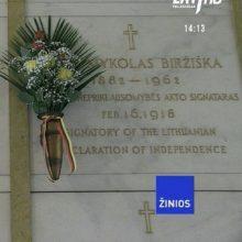 Lietuvoje bus perlaidoti signataro M. Biržiškos palaikai