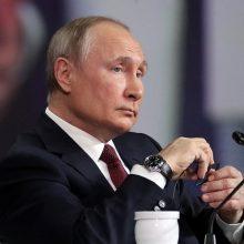 V. Putinas sako besitikintis, kad J. Bidenas bus ne toks impulsyvus kaip jo pirmtakas