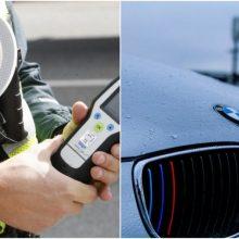 Neblaiviems asmenims – jūra iki kelių: BMW vairuotojui nustatytas sunkus girtumas