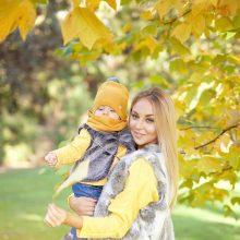 Eglė Straleckaitė su dukra