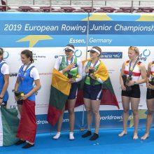 Europos jaunių čempionė – irkluotoja iš pakaunės