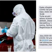 Apie kilusį šurmulį: žmonės išsitirti dėl koronaviruso SMS žinutėmis nekviečiami