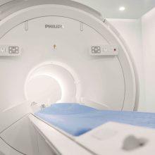 """Su naujuoju """"PHILIPS Prodiva 1.5T MR"""" aparatu paciento paruošimo laikas tyrimui ir pats tyrimas tapo gerokai trumpesnis ir paprastesnis."""