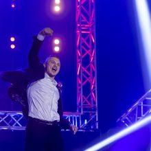 S. Maslobojevas pergalingai sugrįžo į profesionalų ringą