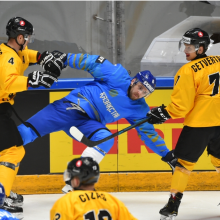 Pasaulio ledo ritulio čempionatas: Lietuvos rinktinė nusileido Kazachstanui