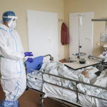 Ligoninėse šiuo metu gydomi 1208 COVID-19 pacientai, iš jų 121 – reanimacijoje