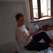 Užkrečia: garsaus dailininko Alfredo Šato dukra Indrė tapyba gyvena ne tik pati, jos meniškame pasaulyje randa vietą ir vaikai.