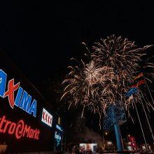 """""""Maximos XXXX"""" atidarymą vainikavo koncertai ir įspūdingi šventiniai fejerverkai"""