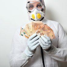 Vyriausybė skyrė rajonams 1 mln. eurų kovai su koronavirusu