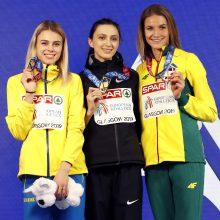 Šuolininkei į aukštį A. Palšytei – Europos čempionato bronza