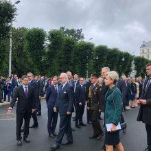 G. Nausėda atvyko į Latviją: prezidentą sutiko ir lietuvių bendruomenė