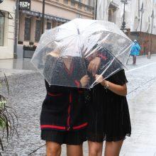 Ateinančią savaitę merks gausus lietus