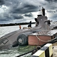 Klaipėdos jūrų uoste prisišvartavo Vokietijos karinis povandeninis laivas
