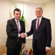 G. Nausėda: Lietuvai rūpi Sakartvelo demokratinė ateitis