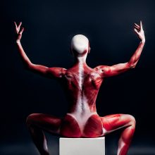 Balerinos I. Briazkalovaitės kūnas tapo meniška žinute: po oda mes visi vienodi