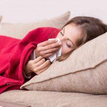 Per savaitę gripu susirgo vienas žmogus, sumažėjo sergamumas peršalimo ligomis