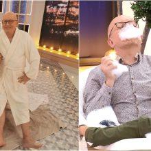 Laidos filmavimas R. Mikelkevičiūtei ir A. Valinskui baigėsi maudynėmis vonioje
