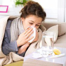 Gripo atvejų per savaitę beveik padvigubėjo