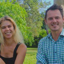 Richardas Jonaitis su žmona Jovita