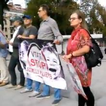 Vilniuje surengti piketai dėl vaiko teisių apsaugos politikos