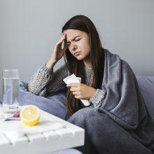 Praėjusią savaitę gripu susirgo du žmonės, padidėjo sergamumas peršalimo ligomis