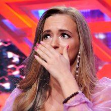 """""""X faktoriuje. Žvaigždės"""" – M. Šalčiūtės ašaros: nepavyks, negaliu kvėpuoti"""
