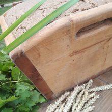 Startas: D.Gaučiaus padovanota iškilusi ir pasirengusi gulti ant ližės duonos tešla.