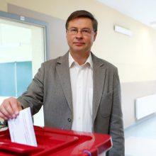 V. Dombrovskis atsisakys Europos Komisijos pirmininko pavaduotojo mandato