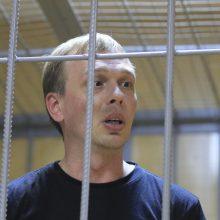 Kremlius susidūrė su griežta visuomenės reakcija į žurnalisto suėmimą