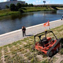 Sostinė tvarkosi išmaniai – teritorijas prižiūri robotai ir dronai