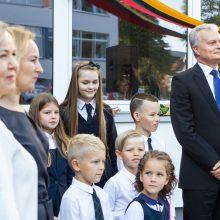 Progimnazijoje Vilniuje apsilankęs G. Nausėda: mokykla man – šventa vieta