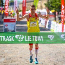 Tūkstantinė minia bėgo už Marijampolę – pusmaratonio titulai iškeliavo į Baltarusiją