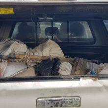 Kaišiadorių rajone aplinkosaugininkai rado daugiau nei kilometrą nelegalių tinklų