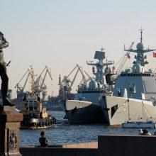 Kinija ir Rusija kitą savaitę rengs bendras laivynų pratybas