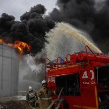 Rusijoje dega gamykla, kurioje gaminamos tarpžemyninės balistinės raketos