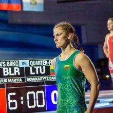 Imtynininkė D. Domikaitytė pateko į Europos žaidynių pusfinalį