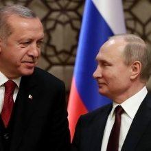 V. Putinas ir R. T. Erdoganas Maskvoje surengs derybas