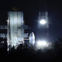 Indijos mėnuleigio misijos startas atidėtas dėl techninio sutrikimo