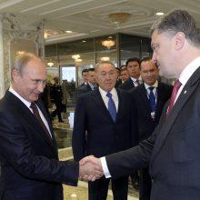 P. Porošenka: V. Putinas – vienintelis mano oponentas