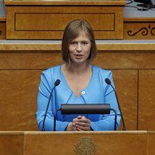 Estijos prezidentė: šalis pritaria Rusijai taikomoms sankcijoms