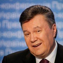 Už akių nuteistam Ukrainos eksprezidentui V. Janukovyčiui skirta 13 metų įkalinimo