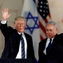 D. Trumpas oficialiai pripažino Izraelio suverenitetą Golane