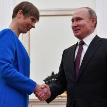 Estijos politologę nustebino K. Kaljulaid ir V. Putino susitikimo trukmė