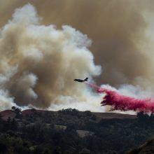 Ugniagesiams pavyko suvaldyti gaisrus pietų Kalifornijoje
