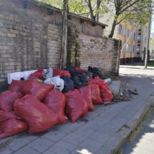 "Akcija ""Darom"": gatvėse tebeguli suversti maišai"