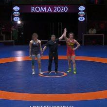 Lietuvės triumfas: imtynininkė D. Domikaitytė Europos čempionate iškovojo bronzą