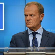 D. Tuskas: ES sprendimas nepakviesti derybų Šiaurės Makedonijos ir Albanijos – klaida