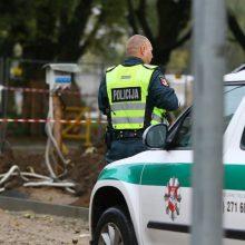 Melagingai pranešta apie sprogmenį Šiaulių policijos komisariate